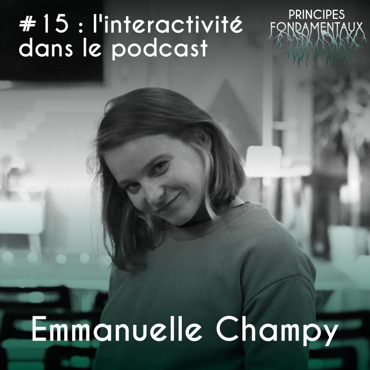 Couverture Podcast #15 Emmanuelle Champy